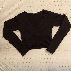 Brandy Melville Amara Crossover long-sleeve Top